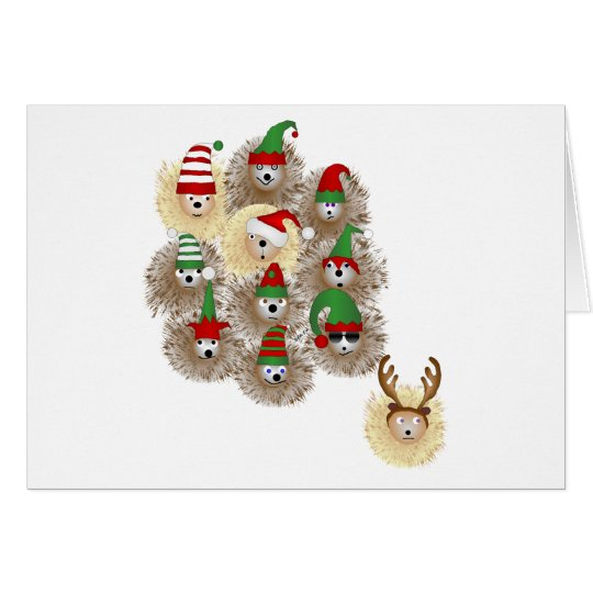 Hedgehogs Holiday Party Note Card