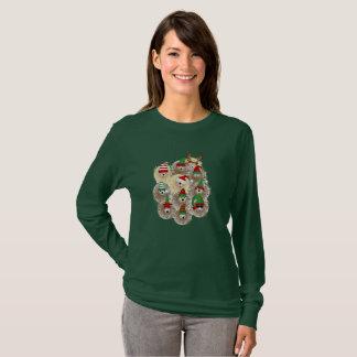 Hedgehogs Holiday Women's Long Sleeve Tshirt
