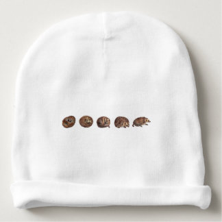 Hedgehogs in a line baby beanie