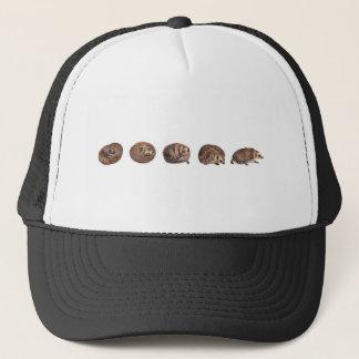 Hedgehogs in a line trucker hat