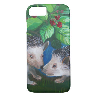Hedgehogs in love oil painting iPhone 8/7 case