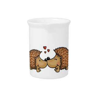 Hedgehogs in Love Pitcher