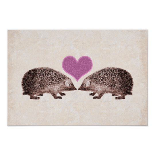 Hedgehogs in Love Poster