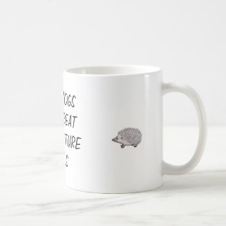 Hedgehogs make great acupuncture tools basic white mug