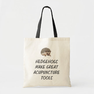 Hedgehogs make great acupuncture tools tote bag