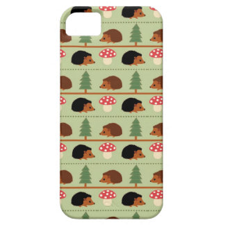 Hedgehogs, Mushrooms and trees iPhone 5 Cover