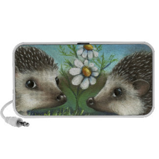 Hedgehogs on a date travelling speakers
