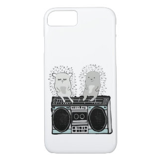 Hedgehogs on boombox iPhone 8/7 case