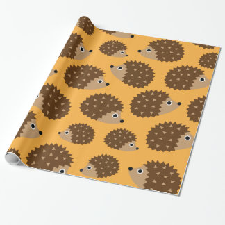 Hedgehogs seamless pattern (ver.4) wrapping paper
