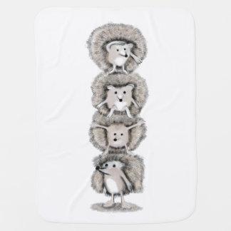 Hedgehogs Totem Baby Blanket