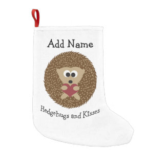 Hedgehugs and Kisses Hedgehog Small Christmas Stocking