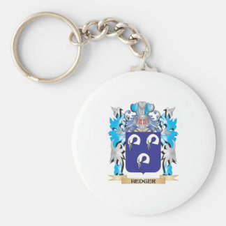 Hedger Coat of Arms - Family Crest Basic Round Button Key Ring