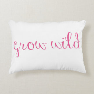 Hedgerow Garden with Quote Accent Pillow Accent Cushion