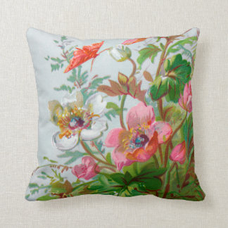 Hedgerow Garden with Quote Throw Pillow Cushion