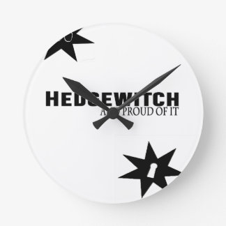 Hedgewitch and Proud of It Round Clock