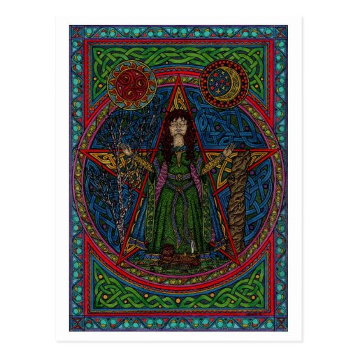 hedgewitch pentagram 001 spellcraft post card
