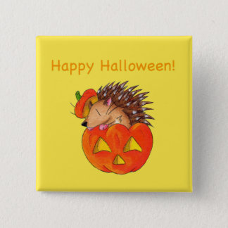 Hedgie Lantern 15 Cm Square Badge