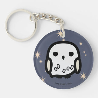 Hedwig Cartoon Character Art Double-Sided Round Acrylic Key Ring