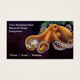 He'e (octopus) with Cowry Business Card