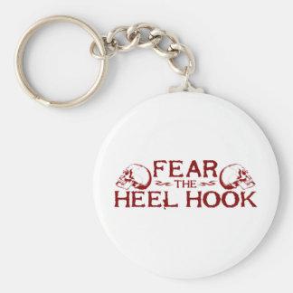 Heel Hook Basic Round Button Key Ring