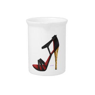 Heeled Evening Sandal Porcelain Pitcher