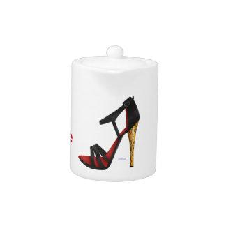 Heeled Evening Sandal Porcelain Teapot