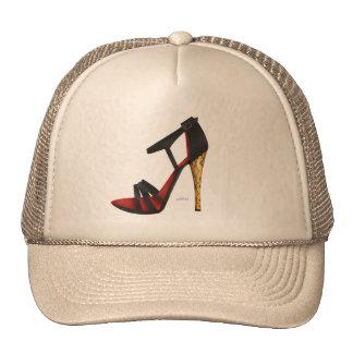 Heeled Evening Sandal Trucker Hat