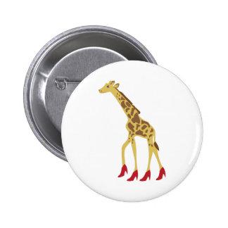 Heeled Giraffe 6 Cm Round Badge