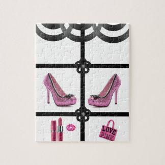 heels pink white black jigsaw puzzle
