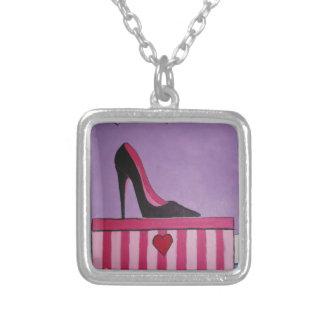 Heels Square Pendant Necklace
