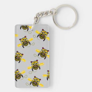 Hei Tiki Bee Toy Kiwiana Rectangular Acrylic Keychains