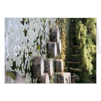 Heian Gardens Pond and Walk in Kyoto Card