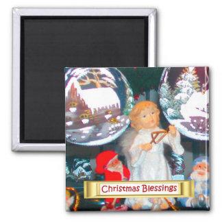 Heidelberg Christmas Market, angel and gifts Fridge Magnet