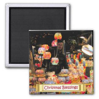 Heidelberg Christmas Market,  Candle holders Square Magnet