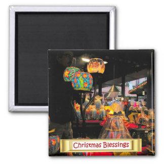 Heidelberg Christmas Market,  Candle lights Square Magnet