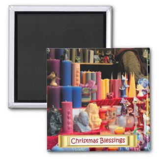 Heidelberg Christmas market, fantasy candles Square Magnet