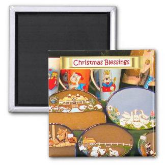 Heidelberg Christmas market, handmade gifts Square Magnet