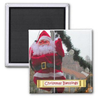 Heidelberg Christmas Market,  Santa in town Fridge Magnets