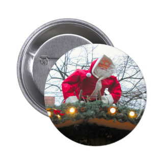Heidelberg Christmas market Santa on the roof Pinback Button