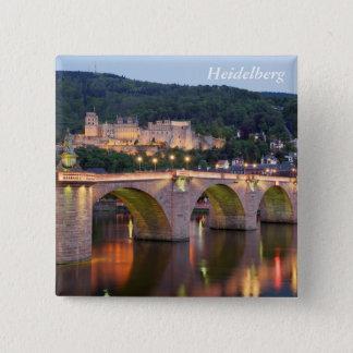 Heidelberg evening 15 cm square badge