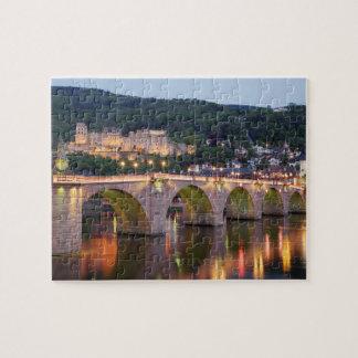 Heidelberg evening scenic jigsaw puzzle