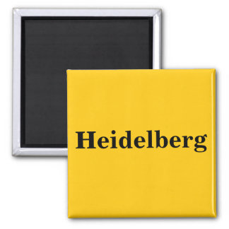 Heidelberg magnet sign gold Gleb