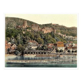 Heidelberg seen from the Hirschgasse Baden Germ Post Cards