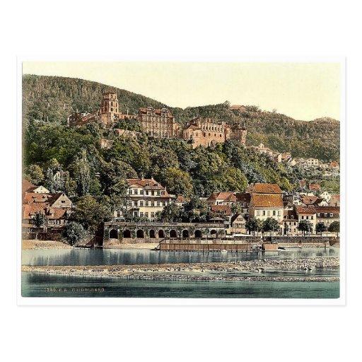 Heidelberg, seen from the Hirschgasse, Baden, Germ Post Cards