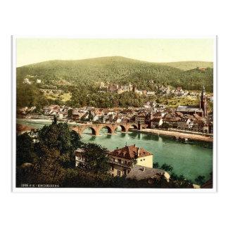 Heidelberg seen from the Philosophenweg Baden G Post Cards