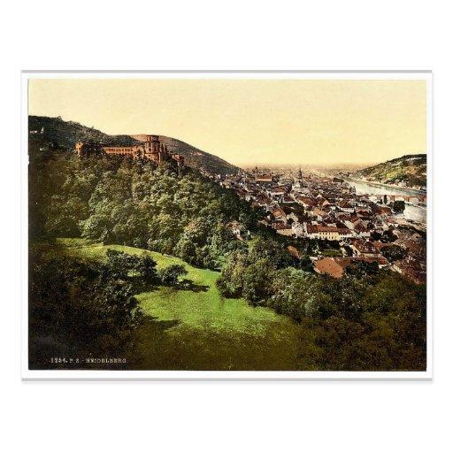 Heidelberg, seen from the Terrace, Baden, Germany Postcards