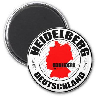 Heidelberg Stamp A002 6 Cm Round Magnet