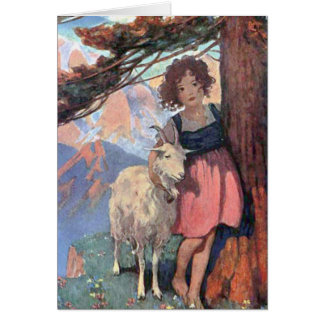 Heidi and Goat Classic Children's Storybook Tale Card