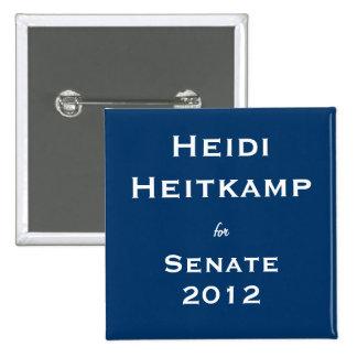 Heidi Heitkamp for Senate 15 Cm Square Badge