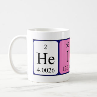 Heidi periodic table name mug